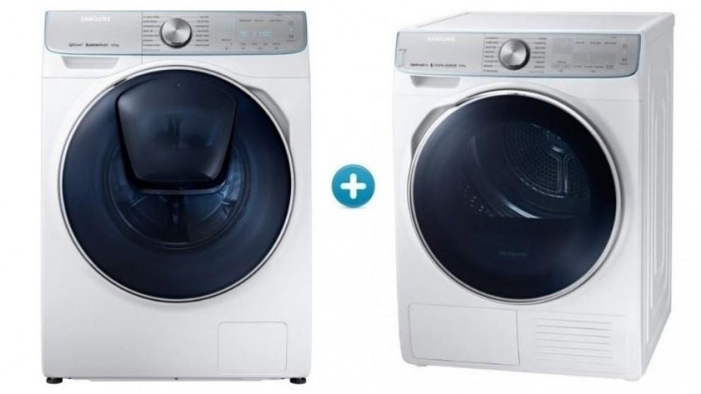 Samsung 8.5kg Washing Machine & 9kg Heat Pump Dryer Package