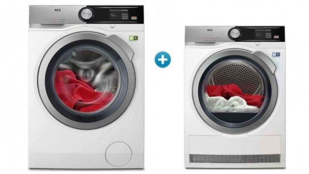 AEG 9000 Series 10kg Washing Machine & 8kg Dryer Package