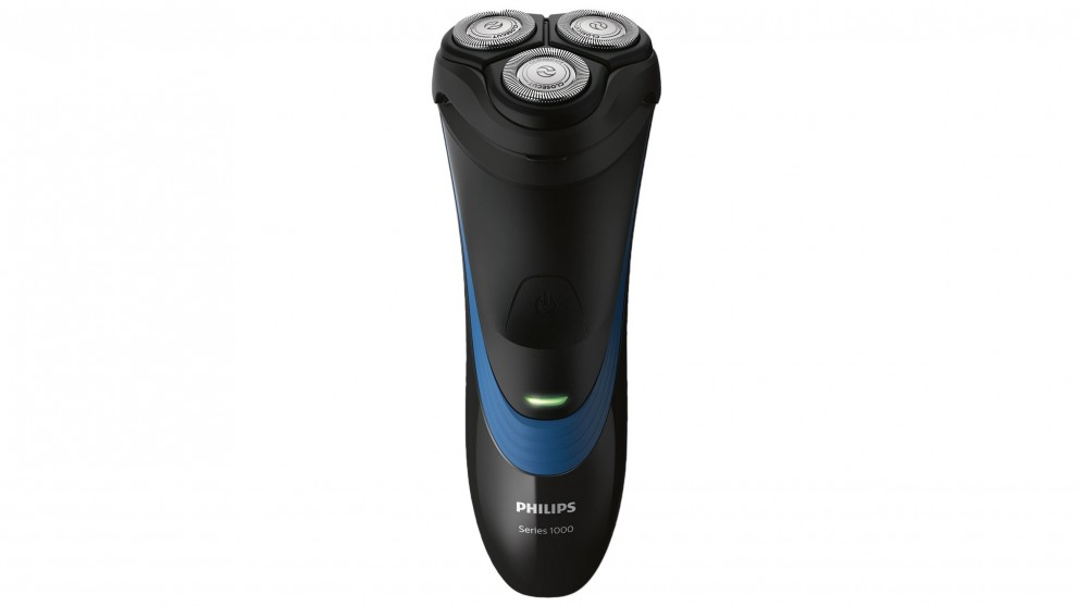 Philips Series 1000 Cordless Dry Electric Shaver with Trimmer - Black/Royal Blue