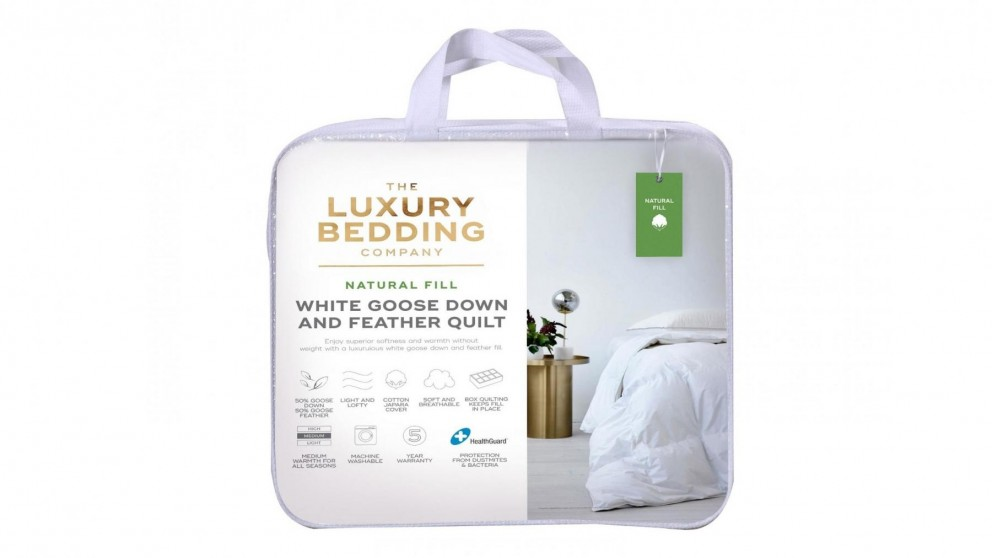 The Luxury Bedding Company 50/50 White Goose Down & Feather Quilt