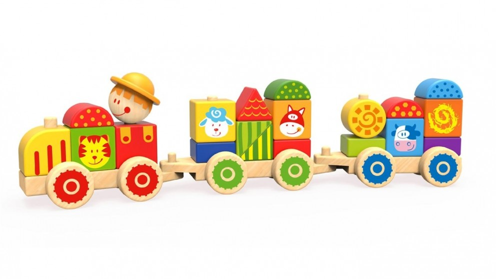 Tooky Toy Stacking Train Farm