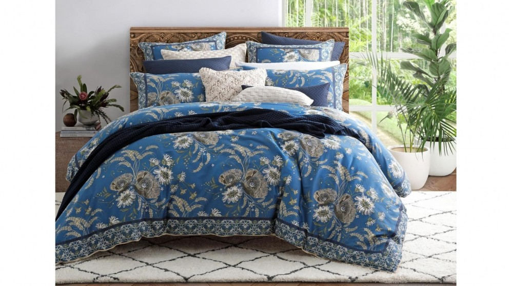 Poppy Blue Quilt Cover Set