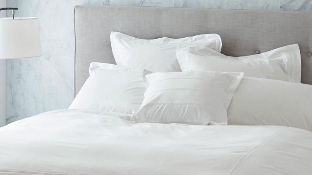 Anneke White European Pillowcase