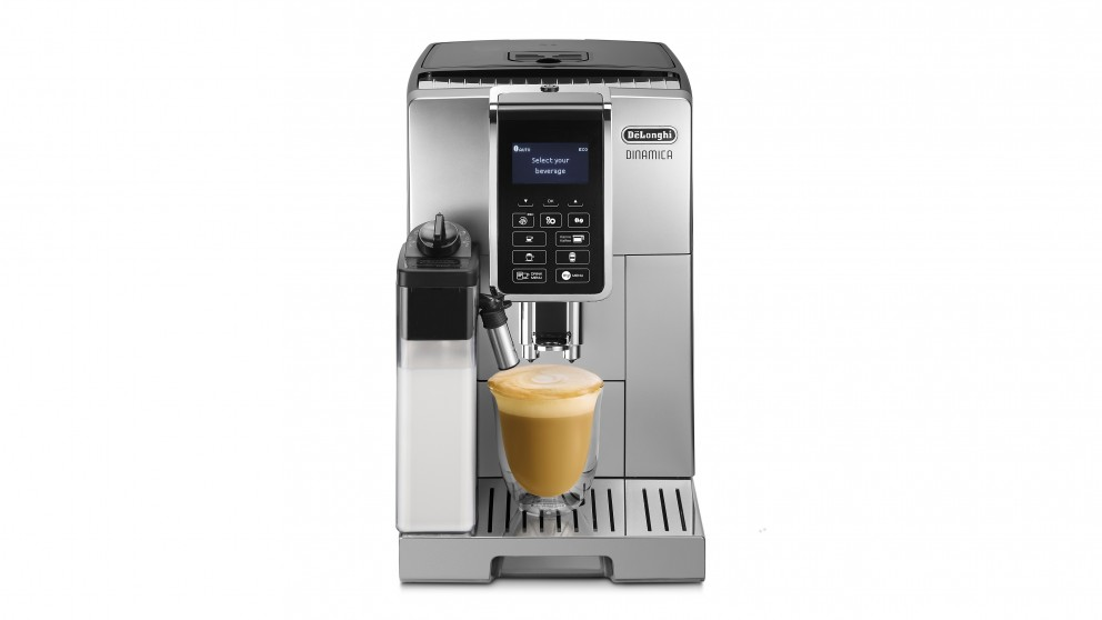 DeLonghi Dinamica Fully Automatic Coffee Machine - Silver/Black