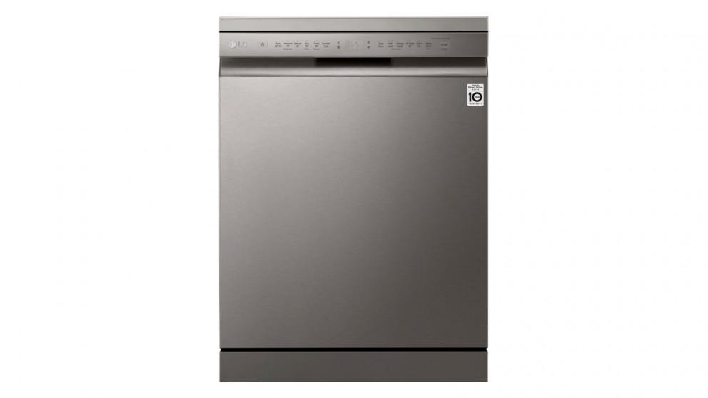 LG 15 Place Setting QuadWash Freestanding Dishwasher - Platinum Steel