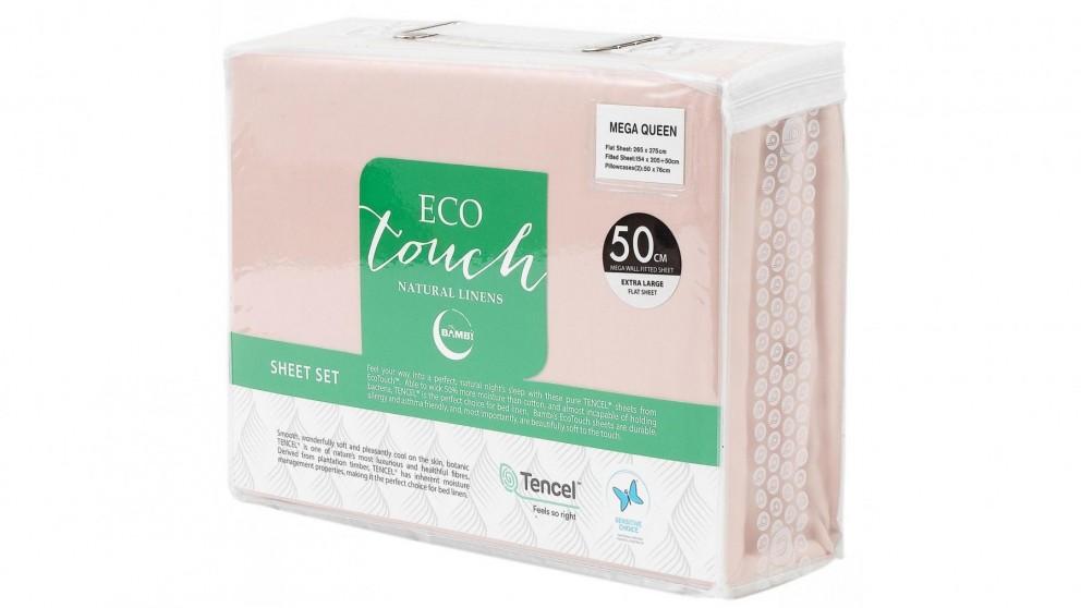 Bambi Eco Touch Tencel Blush Mega Sheet Set