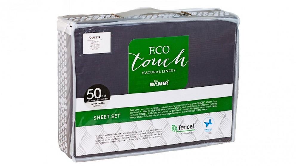 Bambi Eco Touch Tencel Graphite Mega Sheet Set
