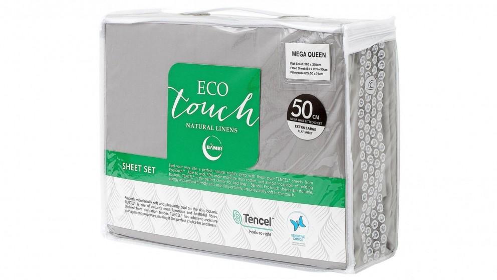 Bambi Eco Touch Tencel Silver Mega Sheet Set