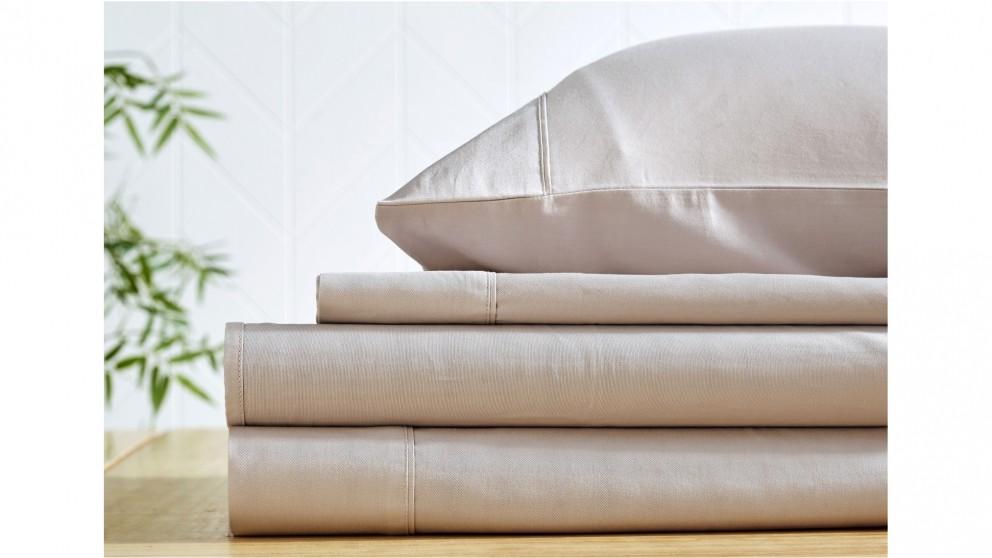 L'Avenue 300 Thread Count Cotton Stone Sheet Set