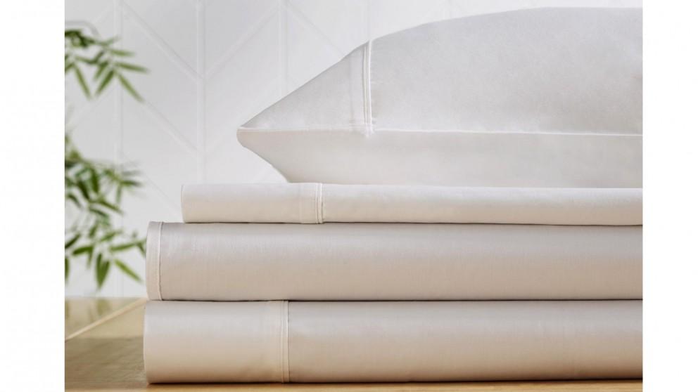 L'Avenue 500TC Bamboo/Cotton White Sheet Set