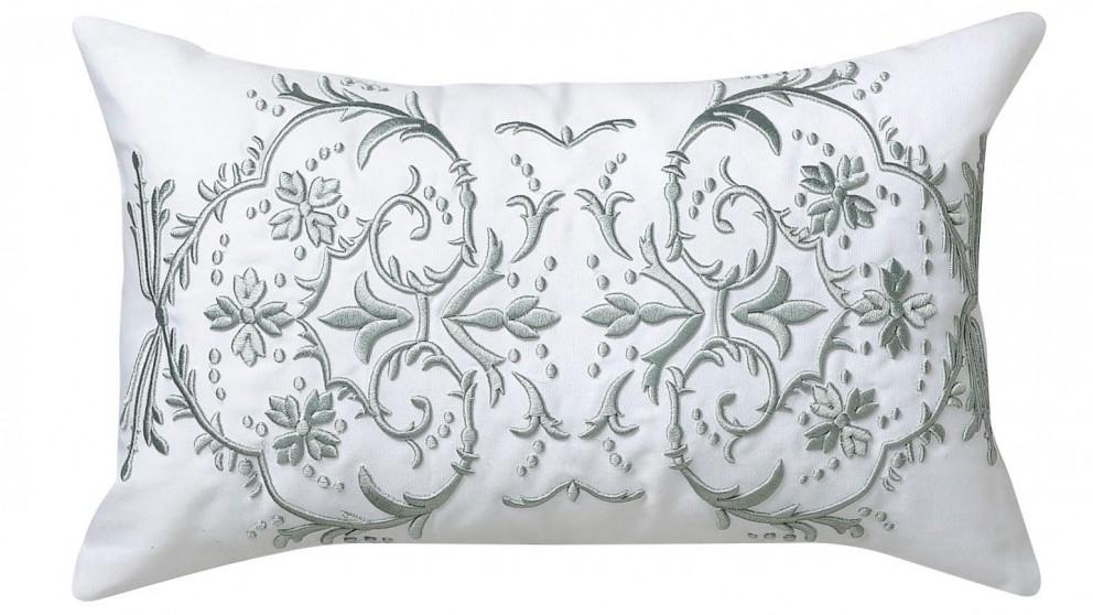 Matisse Eucalyptus Embroidered Cushion