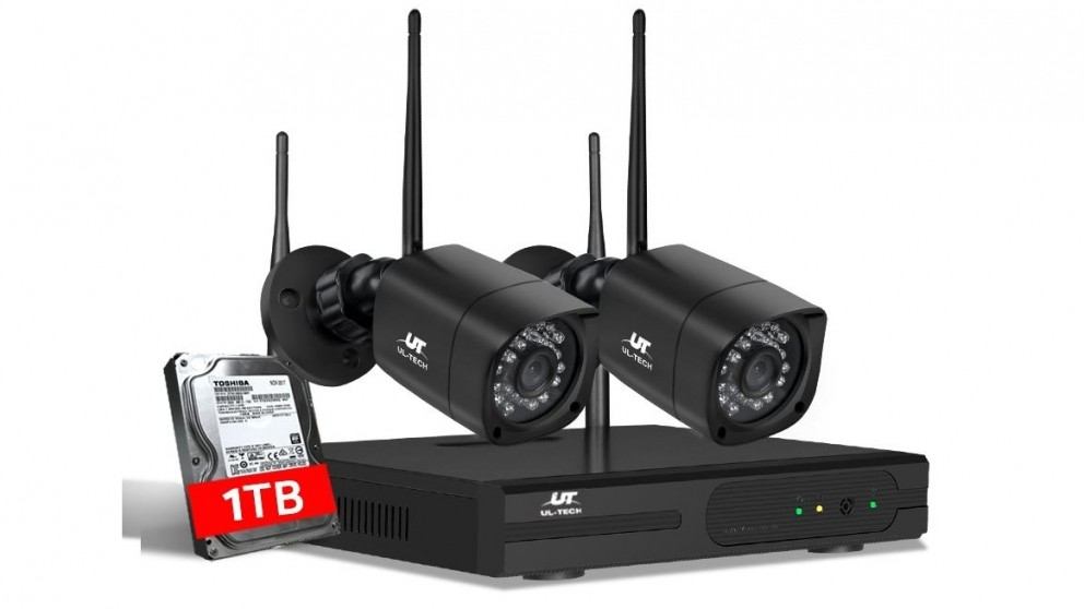 UL-tech CCTV Security 2 Square Kit