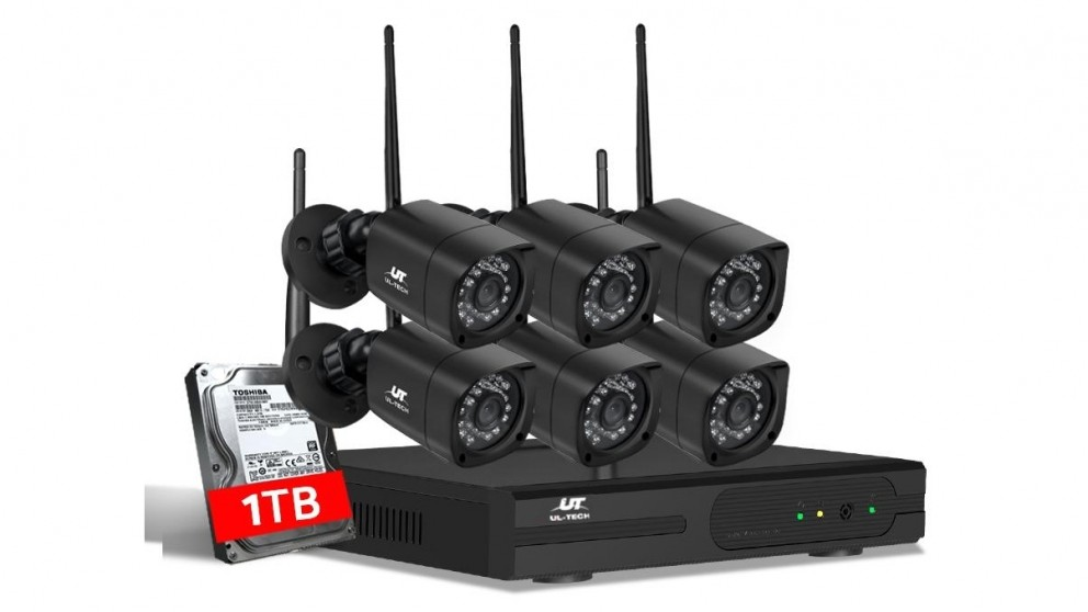 UL-tech CCTV Security 6 Square Kit