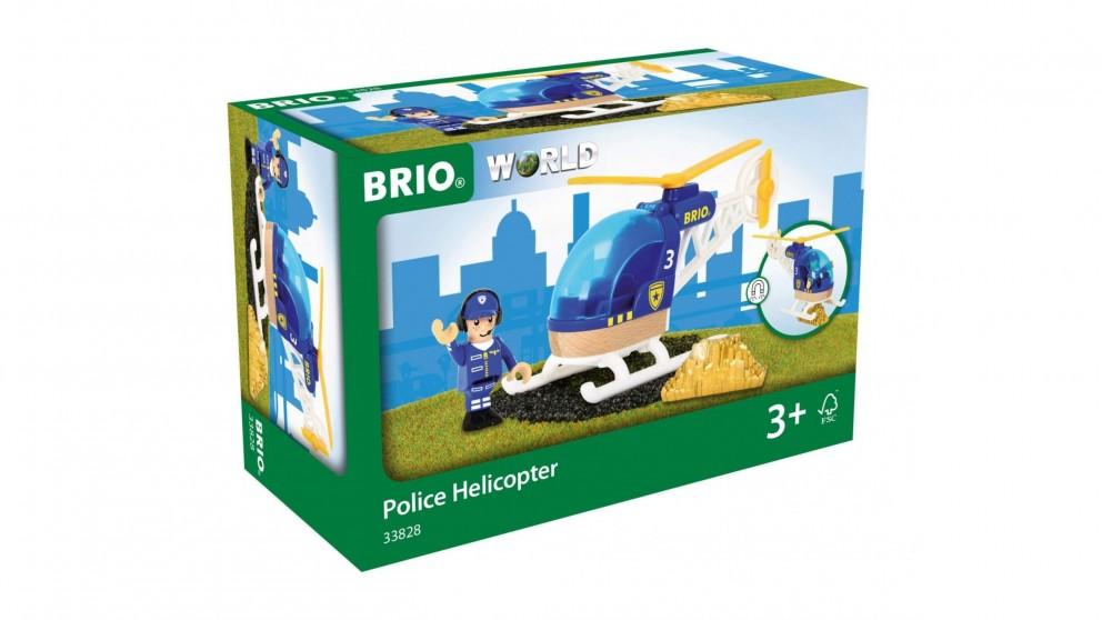 Brio Vehicle - Police Helicopter, 3 pieces