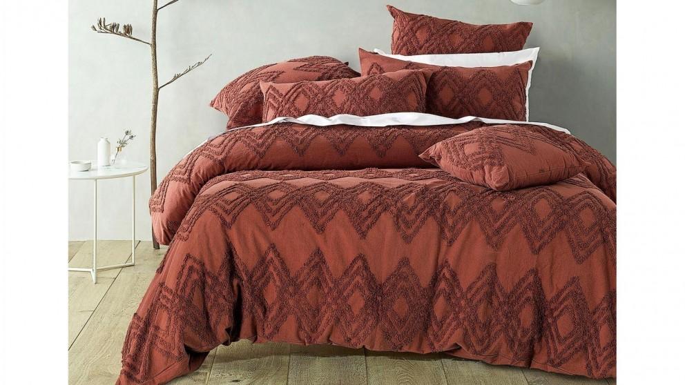 Jaipur Terracotta Quilt Cover Set