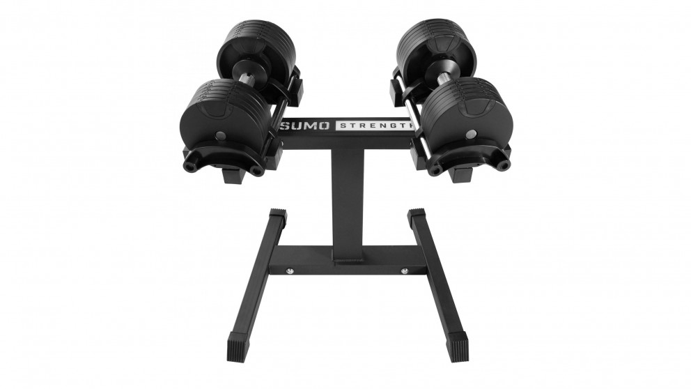 Sumo Strength Adjustable Dumbbell Set with Stand