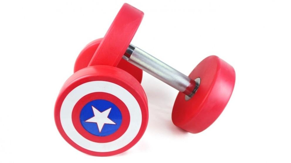 JMQ Fitness Red Captain America Dumbbells