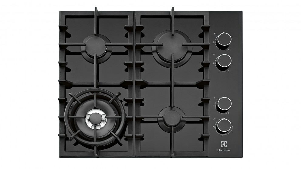 Electrolux 600mm Ceramic Glass Natural Gas Cooktop - Black