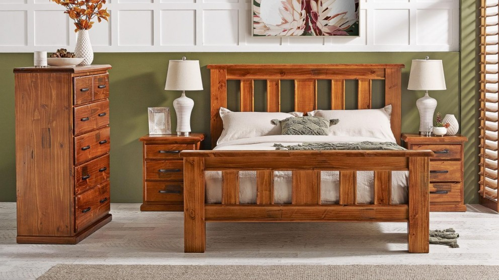 Kiama 4-Piece Bedroom Suite with Tallboy - Double