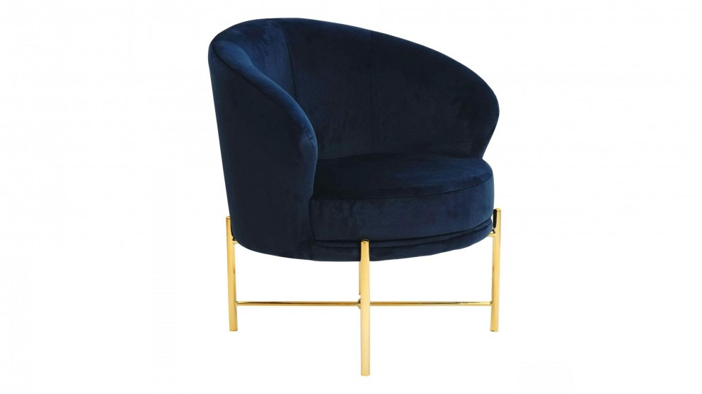 Classic Bedroom Chair - Blue