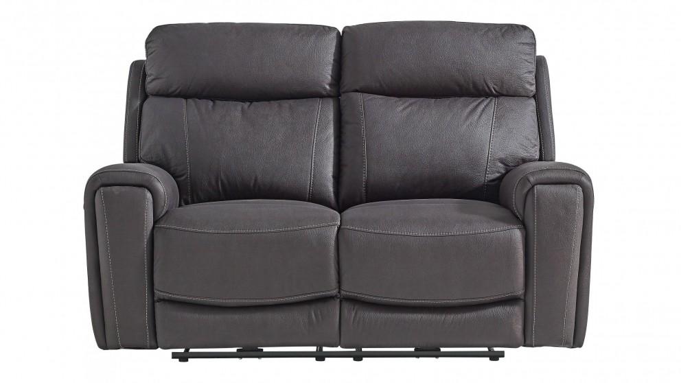 Gatsby 2-Seater Fabric Powered Recliner Sofa - Jet