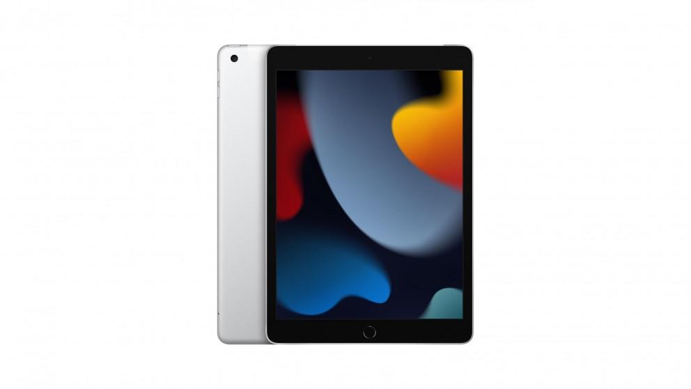 Apple iPad 10.2-inch Wi-Fi + Cellular 64GB (9th Generation) - Silver