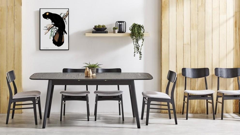 Cody 7-Piece Extension Dining Setting - Black