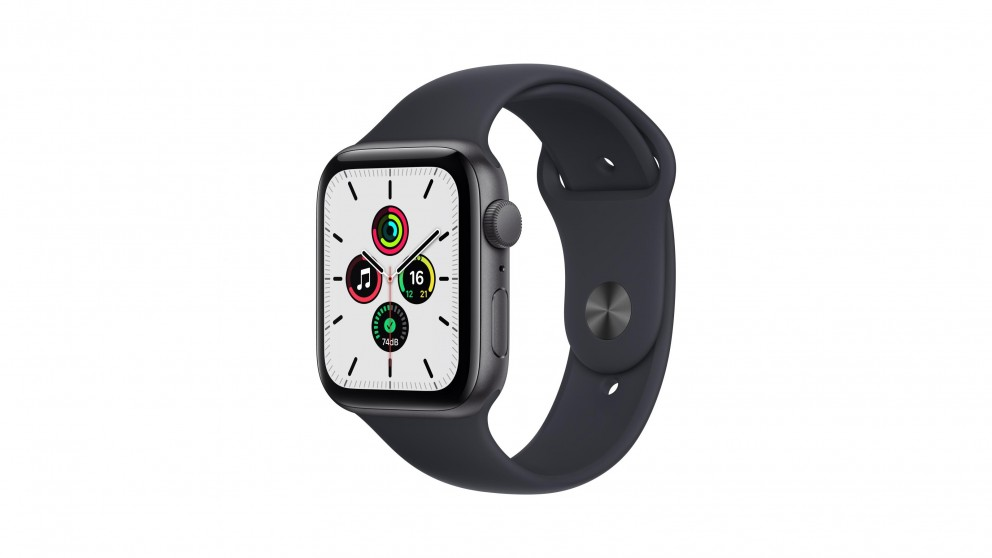 Apple Watch SE 44mm Space Grey Aluminium Case with Midnight Sport Band - GPS
