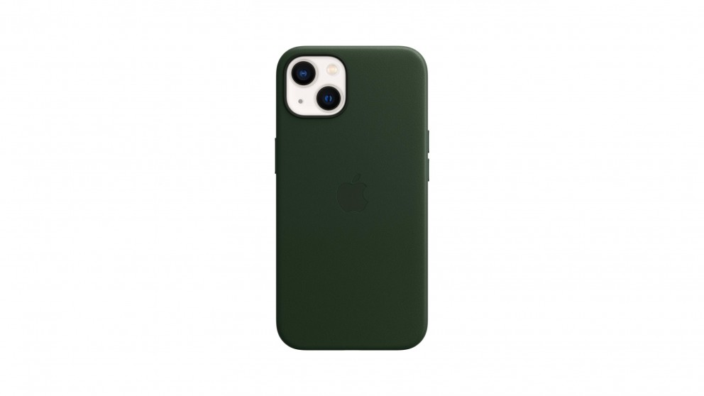 Apple iPhone 13 Leather Case with MagSafe - Sequioa Green