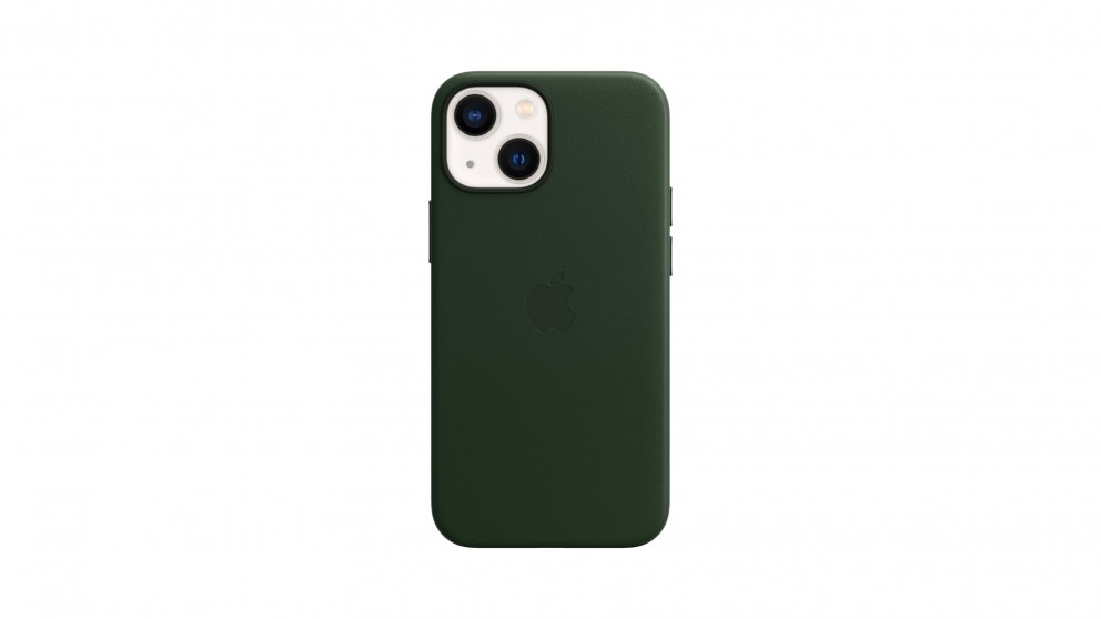 Apple iPhone 13 mini Leather Case with MagSafe - Sequioa Green