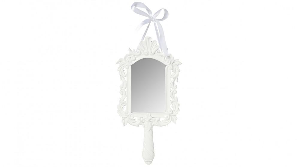 Ariel Hand Mirror - White
