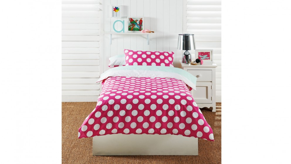 Polka Dot Pink Quilt Cover Set