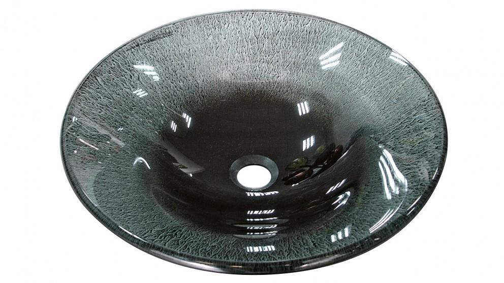 Vanity Bathroom Harvey Norman ledin silver and black glass basin - bathroom basins - vanities