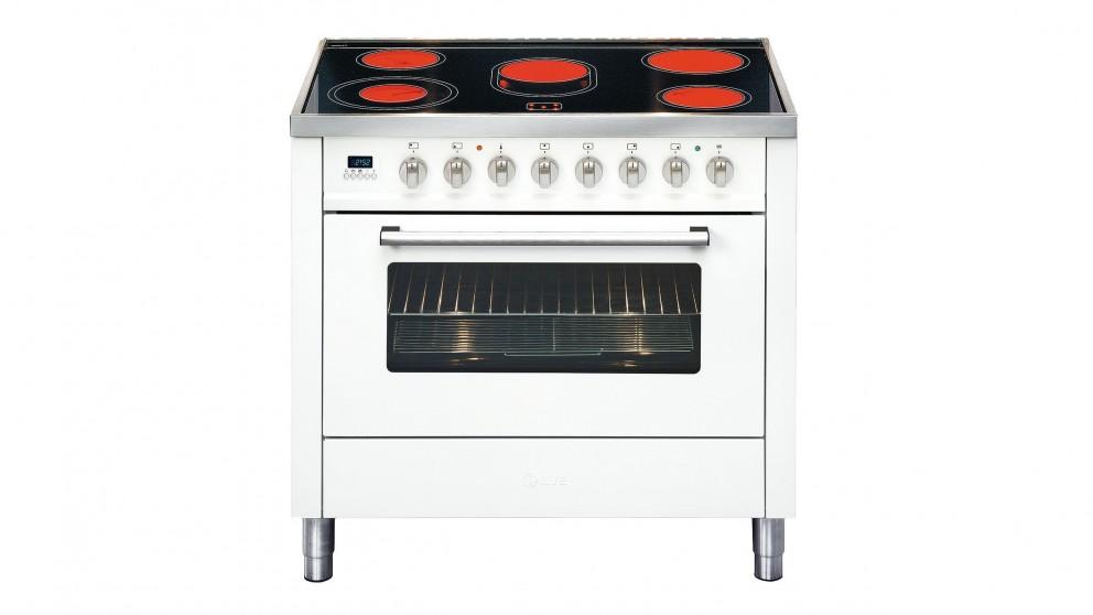 ILVE 90cm Ceramic Electric Freestanding Cooker - White