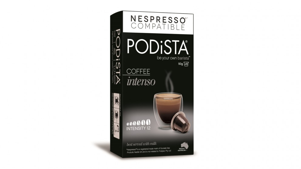 PODiSTA Intenso 10/10 Coffee Capsules - 10packs