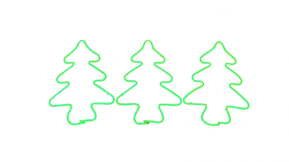 Lexi Lighting Neon Flex Stake Light - Christmas Tree - Set of 3