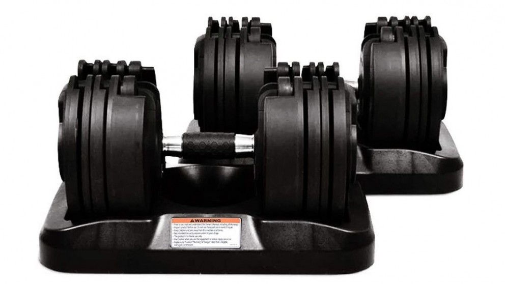 JMQ Fitness Adjustable Dumbbells - 20kg (2pcs)