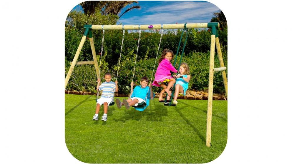 Plum Colobus Swing Set