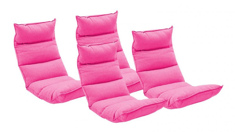 SOGA 4X Floor Recliner Lazy Chair - Pink