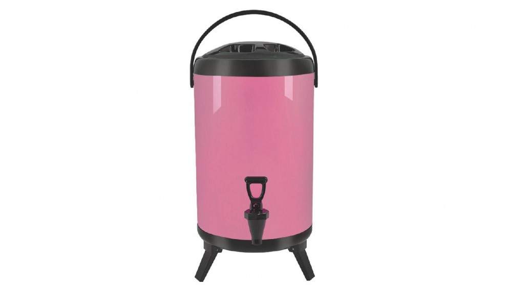 Soga 8L Stainless Steel Milk Tea Barrel with Faucet - Pink