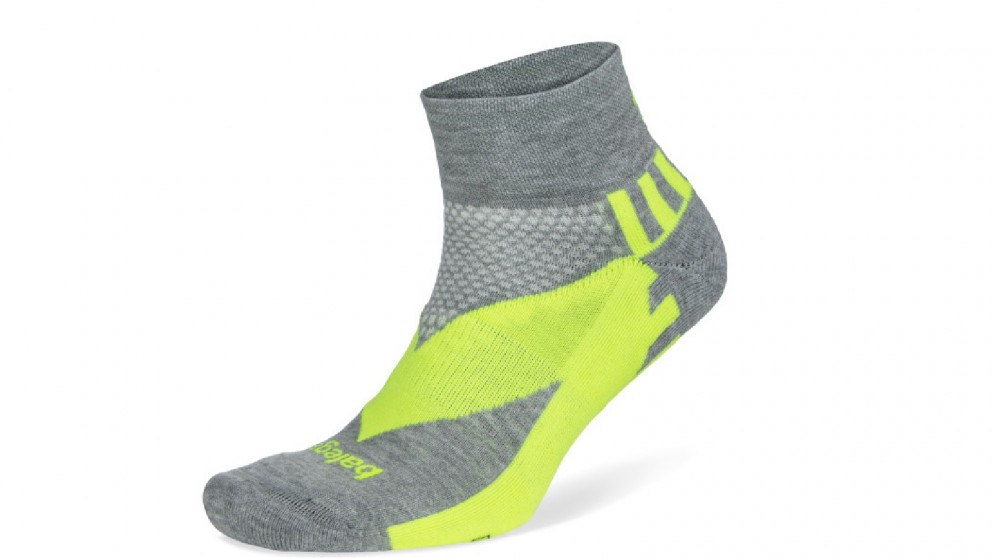 Balega Enduro Reflective Quarter Midgrey/Neon Socks - Small