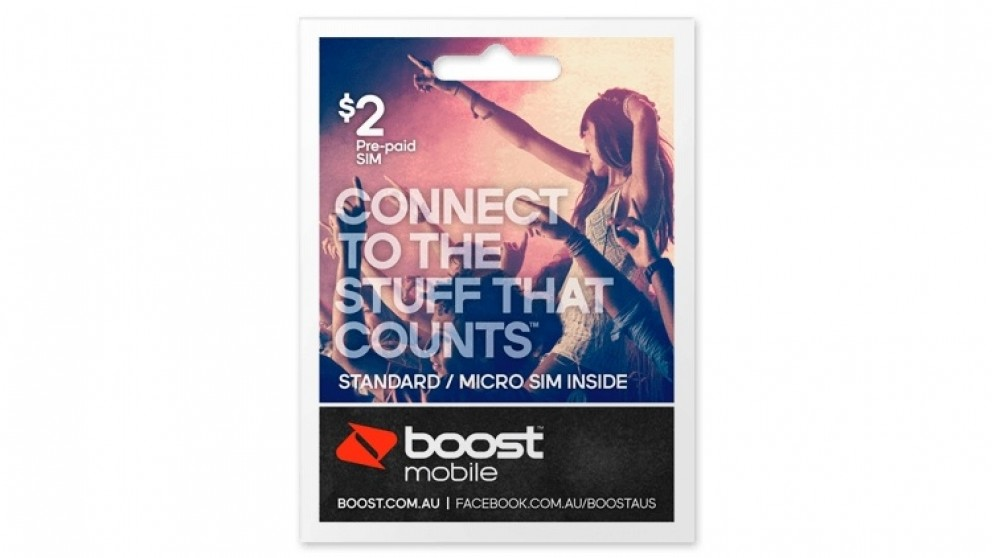 Boost Mobile $2 Pre-Paid Standard/Micro Sim Starter Kit