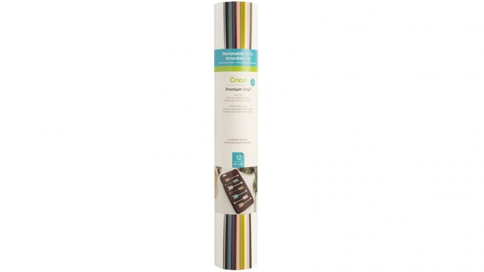 Cricut 12-Sheets 12x12-inch Essentials Sampler Removable Matte Premium Vinyl