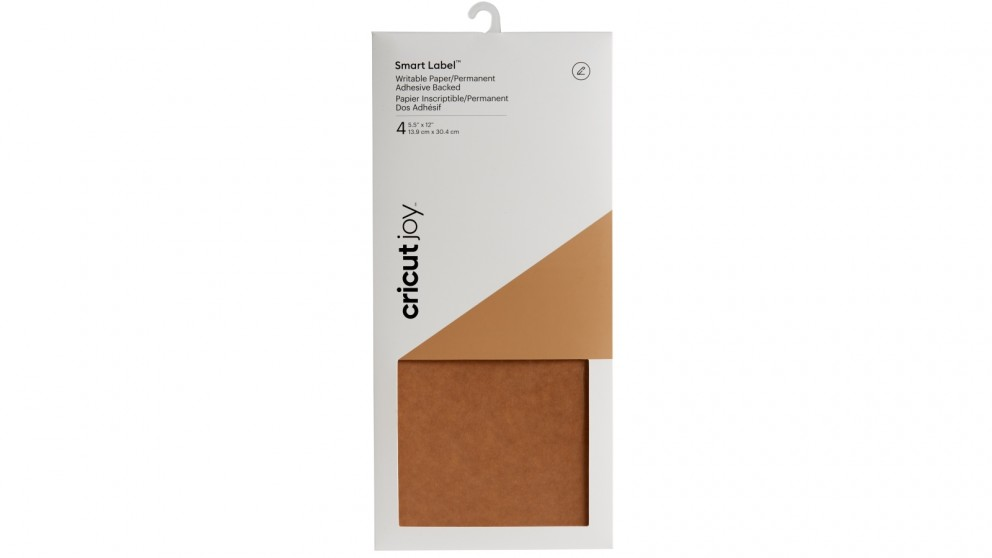 Cricut Joy 4-sheets 5.5x12-inch Smart Label Writable Paper - Kraft Brown