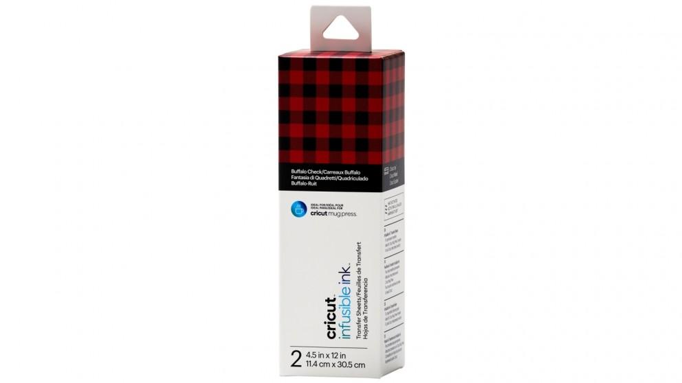 Cricut 2-Sheet 4.5x12-inch Infusible Ink Transfer Sheet Pattern for Cricut Mug Press - Buffalo Check