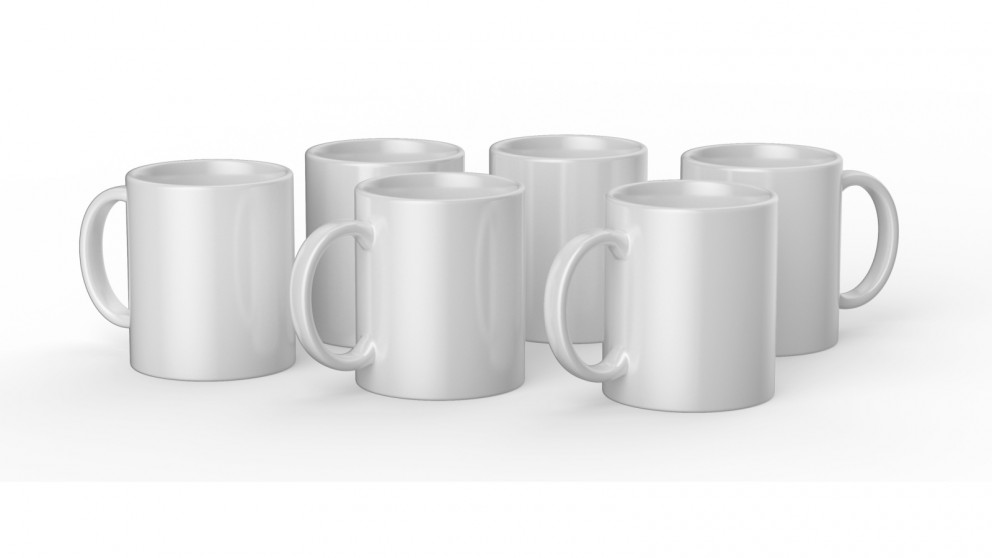 Cricut 6 Pack 12oz/340ml Blank Ceramic Mug - White