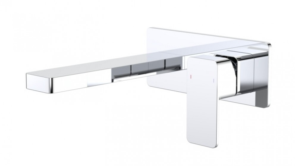 Dorf Epic 180mm Wall Mounted Bath Mixer with Plate