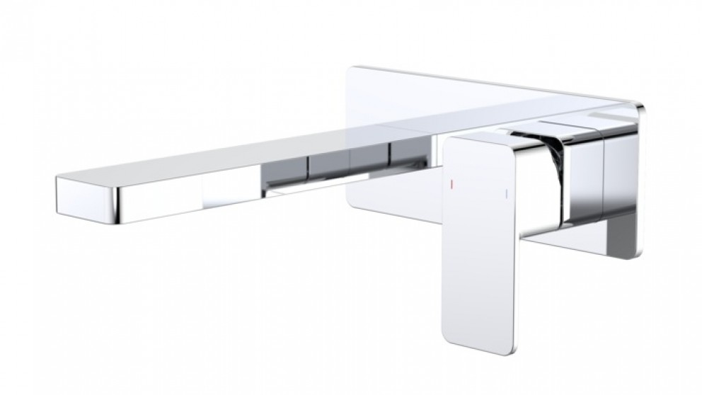 Dorf Epic 180mm Wall Mounted Basin Mixer with Plate