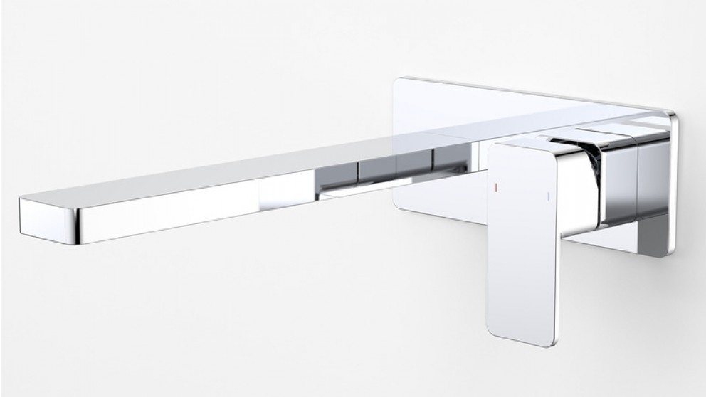 Dorf Epic 240mm Wall Mounted Bath Mixer with Plate