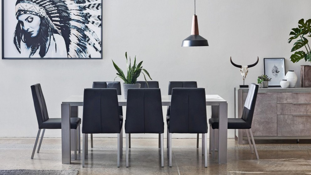 Buy block 9 piece dining setting harvey norman au for Dining room tables harvey norman